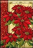 Poinsettias Christmas House Flag For Sale