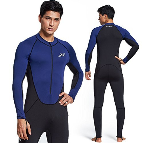 b5a25ea4ab Zionor Full Body Sport Rash Guard Dive Skin Suit for Swimming Snorkeling  Diving Surfing with UV Sun Protection Long-Sleeve for Men