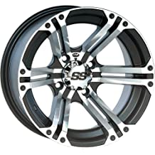 "ITP SS ALLOY SS212 Black Wheel with Machined Finish (12x7""/4x156mm)"