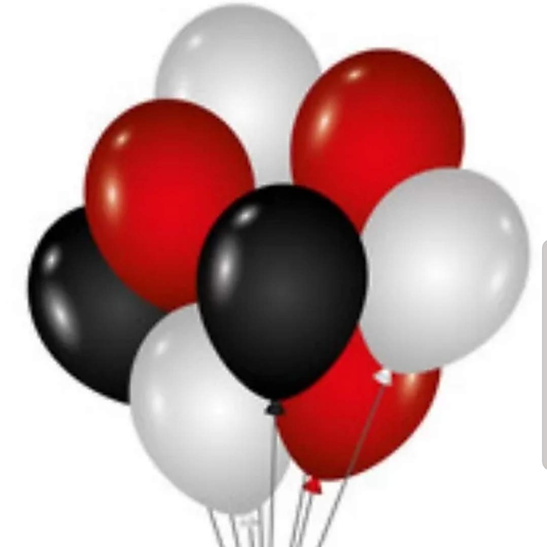 Pack of 50 Latex  Metallic HD Balloons Combination of Golden and Red Color