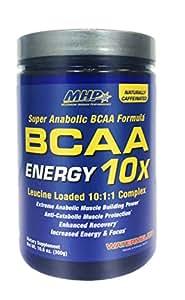 MHP BCAA 10x Energy Leucine Loaded 10:1:1 Complex, Watermelon, 10.6 Ounce