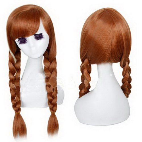 Anna Wig Adult (Xcoser Pretty Party Anna Wig Hair Tails Hair Style for Cosplay Accessories)