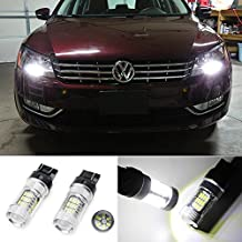 iJDMTOY (2) Xenon White 48-SMD-3014 Reflector 7440 T20 LED Bulbs for 2012-up Volkswagen B7 Passat Beetle Daytime DRL Lights