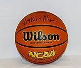 Hakeem Olajuwon Autographed Black Wilson NCAA Basketball- JSA Auth