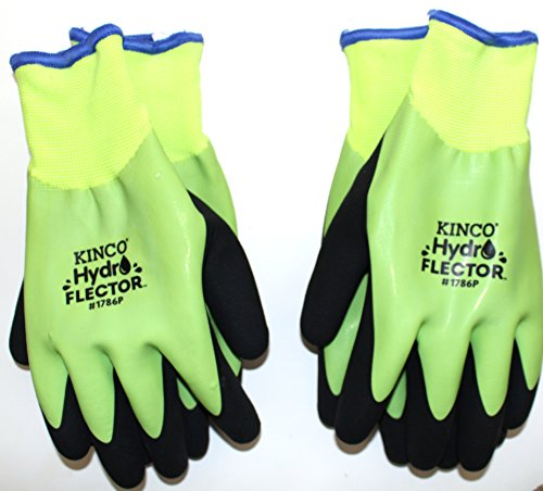 Hatch Black Winter Glove (Kinco 1786P Hydroflector Waterproof, Double Thermal Shell & Double-Coated Latex Gloves 2 PACK)