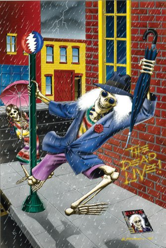 Dead Live - Grateful Dead Art Print Poster