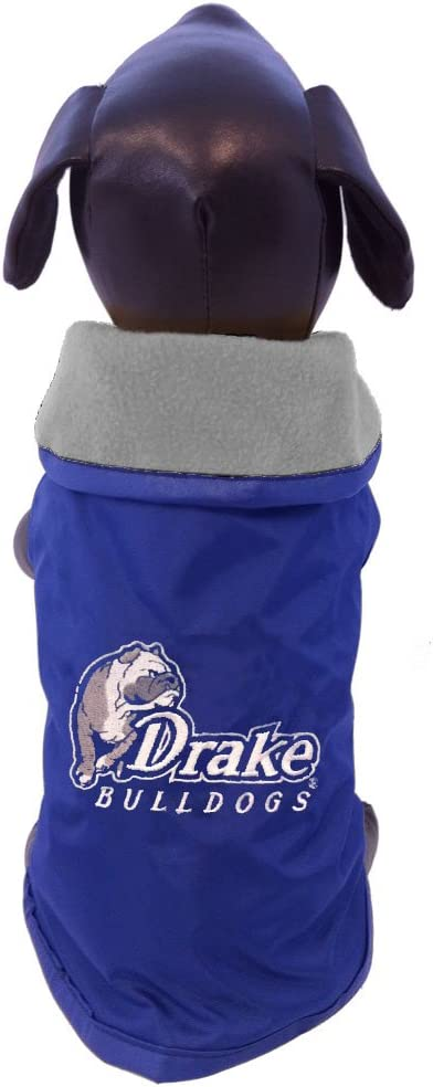 NCAA Drake Bulldogs All Weather-Resistant Protective Dog Outerwear XX-Small