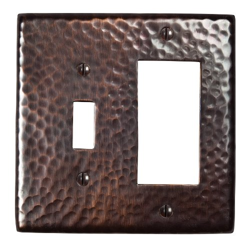 The Copper Factory CF125AN Solid Hammered Copper Single Switch and