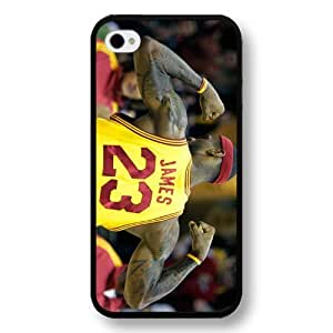 UniqueBox- Customized Personalized Black Hard Plastic iPhone 4/4S Case, NBA Superstar Cleveland Cavaliers Lebron James iPhone 4/4S case, Only Fit iPhone 4/4S case