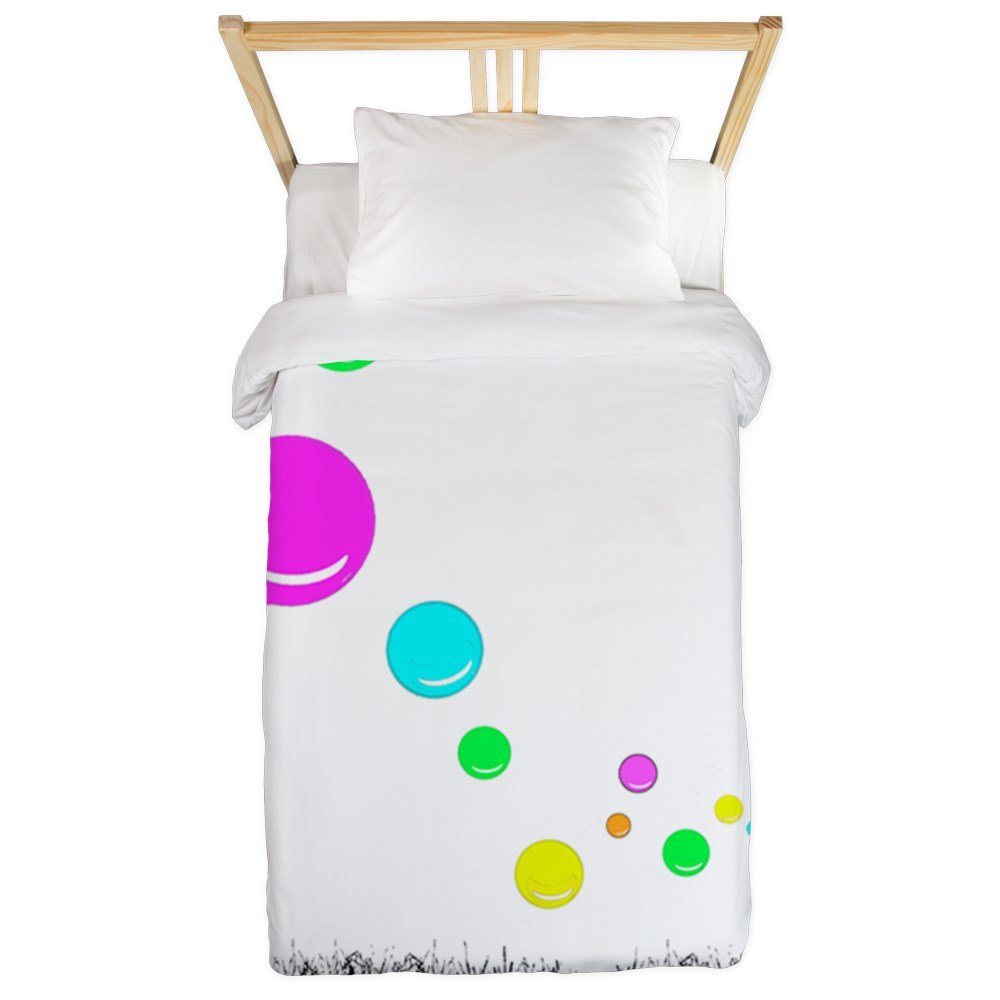 CafePress - Girl Blowing Bubbles Twin Duvet - Twin Duvet Cover, Printed Comforter Cover, Unique Bedding, Microfiber