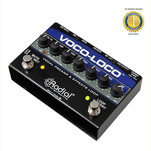 Radial Engineering Voco-Loco Effects Switcher for Voice or Instrument with 1 Year Free Extended Warranty by Radial Engineering