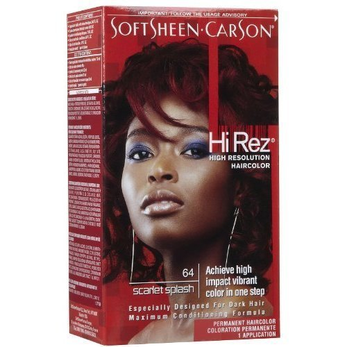 Soft Sheen-Carson Hi-Rez High Resolution Permanent Haircolor #64 Scarlet Splash (intense Red Copper) (Pack of 3)