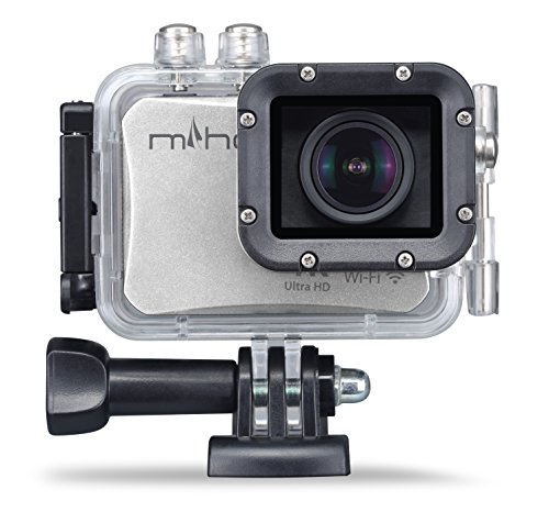 Miho SDV-8560Q 4K Sports Action Camera 30fps 16MP 196ft Underwater Camcorder with WiFi Remote Control Sony CMOS Sensor and FOV 130 Wide Angle Lens (Silver) Lesoho