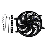 1996 318i radiator - ALLOYWORKS Universal High Performance 14 Inch 12V Slim Electric Cooling Radiator Fan with Fan Mounting Kit