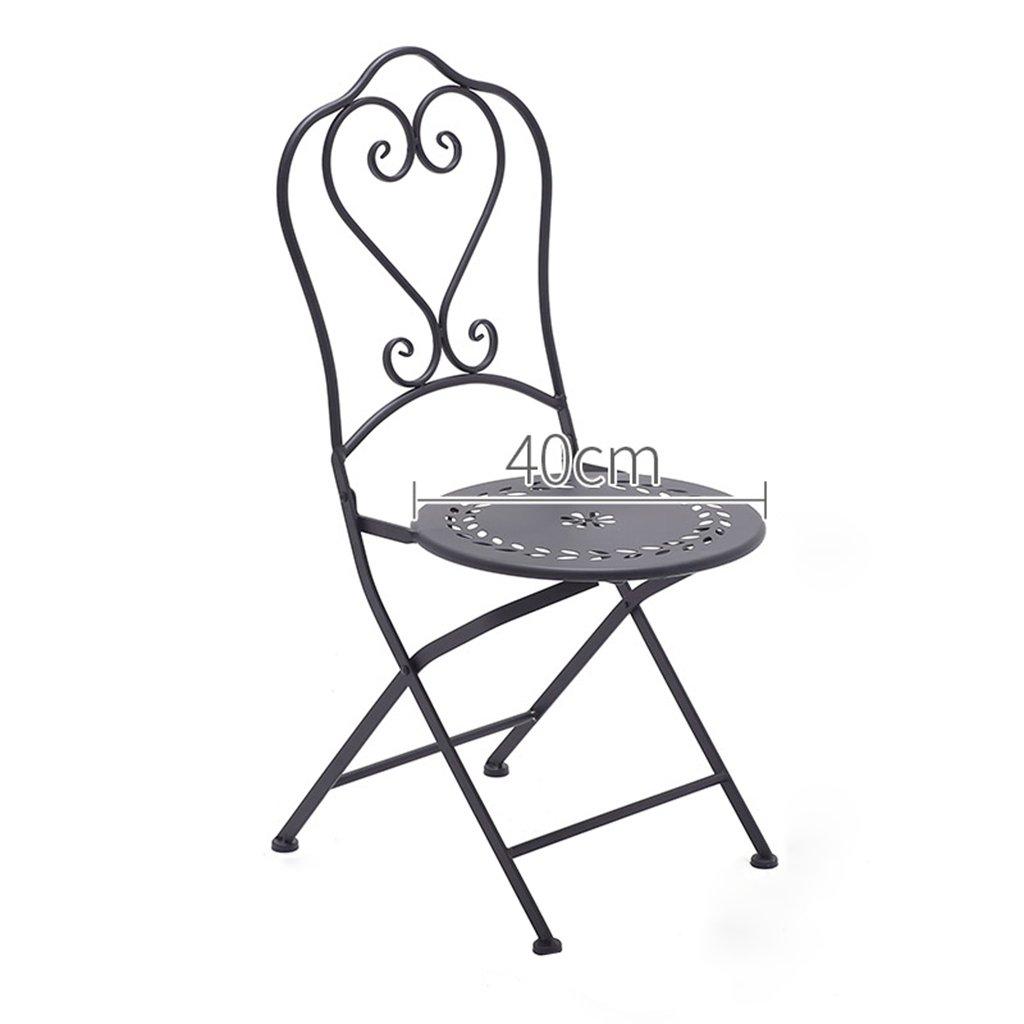 上品 YXYH 椅子ビストロセット アウトドア 折りたたみ式 鉄製アート家具セット 耐摩耗性織布 パティオ ブラック YXYH/バルコニー/デッキ B07GBZ7D6R ブラック B07GBZ7D6R, 泡盛通販おきなわマート:5a041d77 --- arianechie.dominiotemporario.com