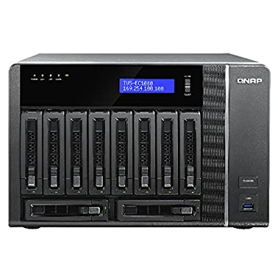 QNAP TVS-EC1080-E3-8G-US 10-Bay Edge Cloud Turbo vNAS, SATA 6G, 4LAN, 10G-ready (8GB version) (TVS-EC1080-E3-8G-US)