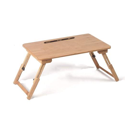 Mesa de Picnic Mesa Plegable de bambú - Cama del Dormitorio Que ...