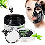 Facial Steam How Long - LuckyFine Charcoal Purifying Peel off Mask - Black Mask - Blackhead Remover Mask - Purifying Deep Cleansing Facial Mask - Pore & Acne Treatment Mask, Oil Control + Mirror & Spoon