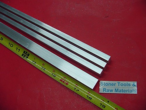 4 Pieces 3/8″ X 3/4″ ALUMINUM 6061 FLAT BAR 18″ long T6511 .375″ New Mill Stock