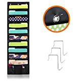 Over The Wall/Door Hanging File/Folder Organizer For Office, Home, Classroom – 10 Large Deep Pockets For Keeping All Your Files Neatly And 2 Small Pockets For Accessories – Best Storage Pocket Chart