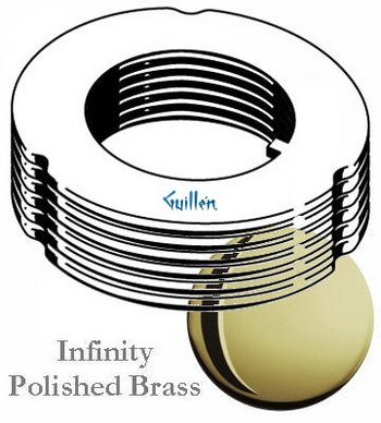 Grohe 45205R00 Ultra 100 Handle Rings, Polished Brass ()