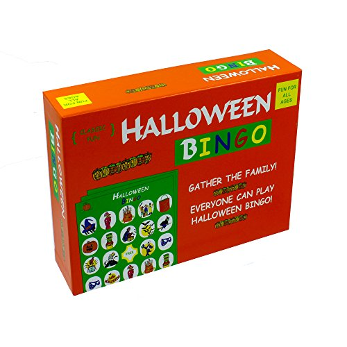 Halloween Bingo - the perfect Halloween Party Game - The Original Halloween Bingo Game with Halloween-themed pieces for a fun-filled Halloween House (Halloween Party Supply List)
