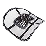 FidgetFidget Home Chair Car Seat Pad Black Massage Cushion Cool Mesh Back Lumber Support