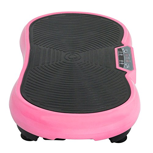 Fitness Vibration Platform Full Body Workout Machine Fit Vibration Plate W/Remote Control and Resistance Bands, Bluetooth Exercise Equipment (Pink) by Nova Microdermabrasion (Image #8)
