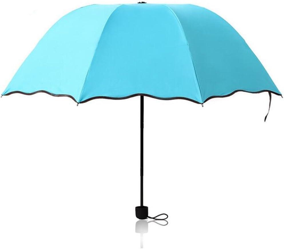 Bleu IHRKleid Pare-brise cr/épusculaire cr/éatif parapluies parapluie parasol ensoleill/é