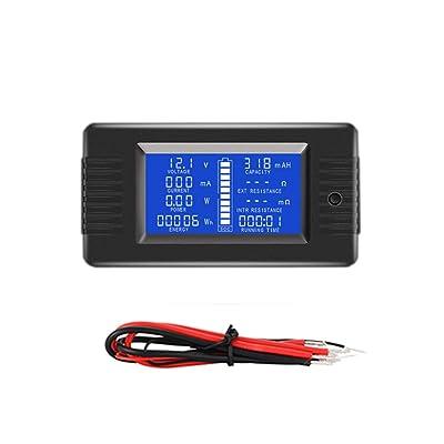 BliliDIY Pzem-013 10A Probador De Batería Voltaje CC Capacidad De Potencia Actual Resistencia Interna Y Externa Medidor De Electricidad Residual: Electrónica