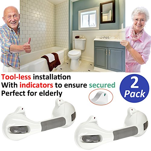 AmeriLuck 2 Pack Bath Suction Grab Bar 12