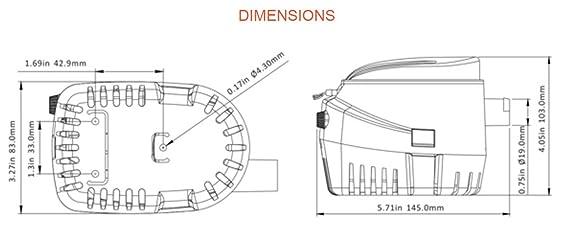 Amazon 12v Seaflo Automatic Bilge Pump 750 Gph Boating Rhamazon: Rule Mate 750 2839 Wiring Diagram At Gmaili.net