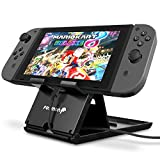 Fosmon Adjustable Nintendo Switch Compact Playstand, Foldable Multi Angle Holder with Air Vent Access Stand for Nintendo Switch - Black