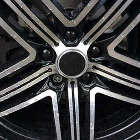 2019 20 Unids Universal Anti-Rust 17 19 21mm Cromo Brillante ABS Ajuste Autom/ático Neum/ático Rueda Tuerca Tornillo Tornillo de Protecci/ón Cubre Tapas Car Styling Size : Black-17MM FJiuJin