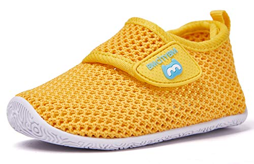 BMCiTYBM Baby Sneakers Girl Boy Tennis Shoes First Walker Shoes 6-12 Months Infant Yellow