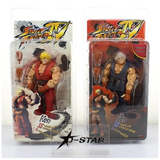 Game Street Fighter Ken Ryu Guile PVC Action Figure Toy Collection Xmas Gift