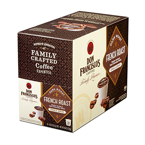 Don Francisco's French Roast, 24 Depend on- Single Serve Coffee Pods, Compatible with Keurig K-cup Brewers
