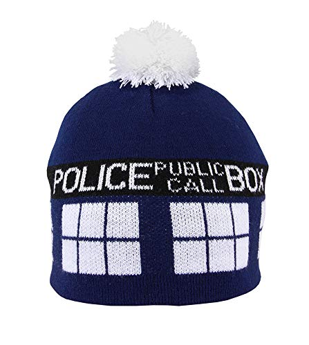 Elope Doctor Who Tardis Pom Beanie Hat -