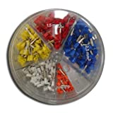 Wire Ferrule Assortment Pack..22,20,18,16,and 14 AWG Insulated, Model: 701-998 (Tools & Outdoor gear supplies)