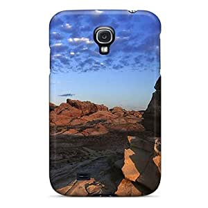 Hot BFuOCut808JhwvZ Case Cover Protector For Galaxy S4- Clouds Over A Desert Valley