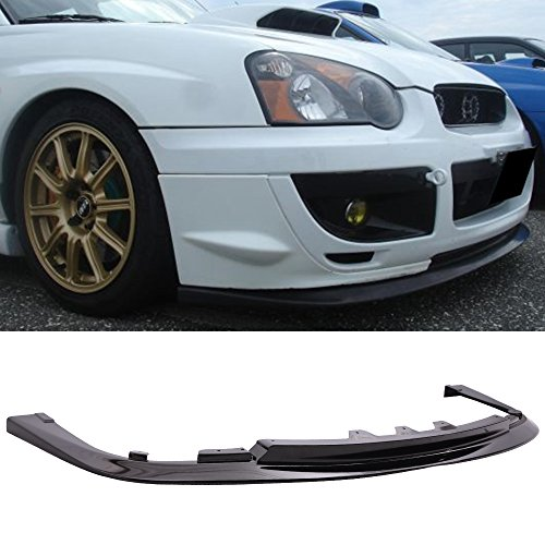 Pre-Painted Front Bumper Lip Fits 2004-2005 Subaru Impreza WRX STI | STI Style Glossy Black PP Front Lip Finisher Under Chin Spoiler Add On other color available by IKON MOTORSPORTS