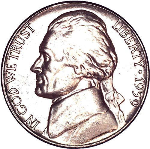 1959 Jefferson Nickel 5C Brilliant Uncirculated (Ngc Jefferson Mint Nickel)