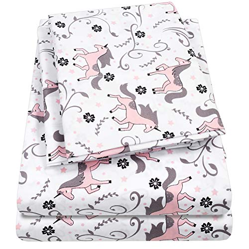 1500 Supreme Kids Bed Sheet Collection - Fun Colorful and Comfortable Boys and Girls Toddler Sheet Sets - Deep Pocket Wrinkle Free Hypoallergenic Soft and Cozy Bedding - Full, ()