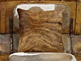 Golden Brindle Cow / Steer Hide (Cowhide) Pillow