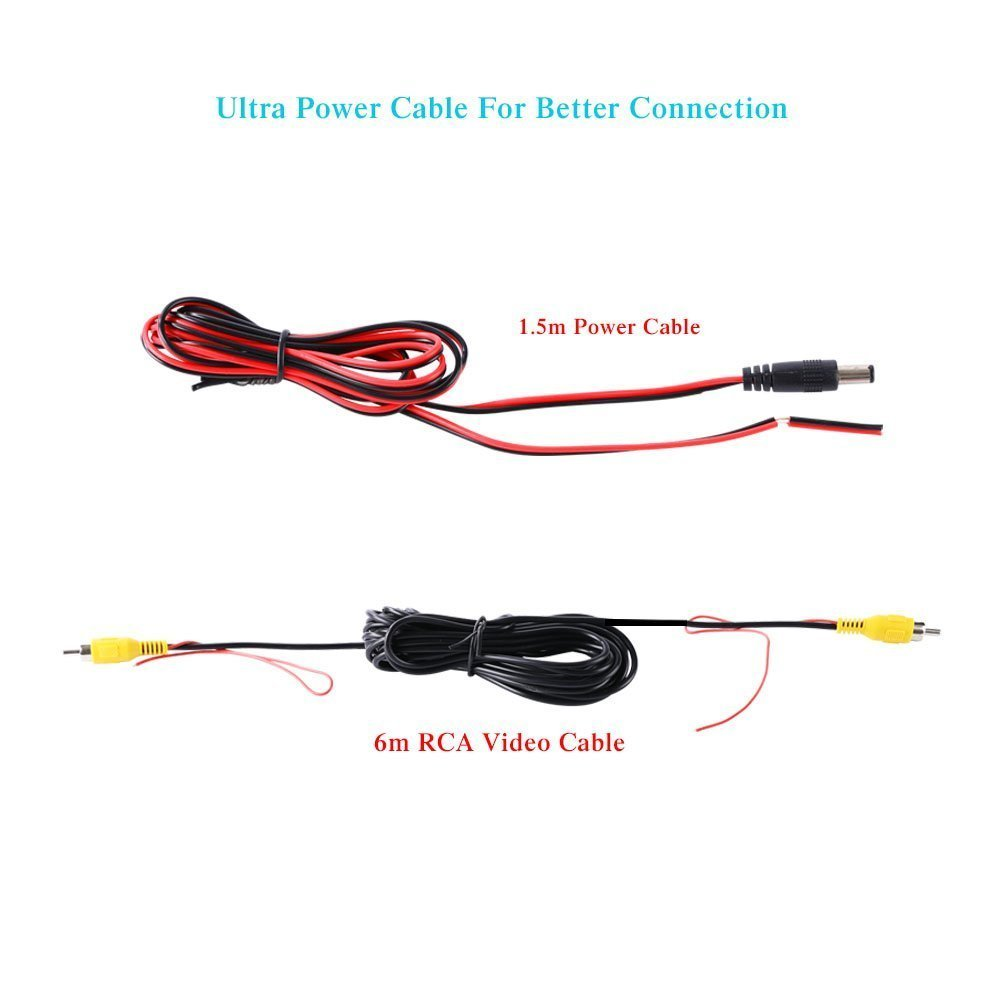 Rear View Backup Camera,Universal Car Parking Vehicle Backup Camera With Video Cable and Power Cable
