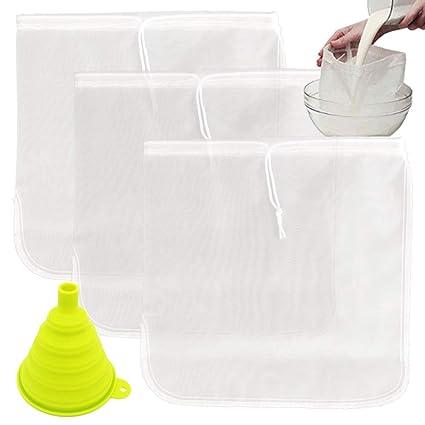 TIMGOU 3 unidades de bolsa de leche con un embudo plegable, 30 cm x 30