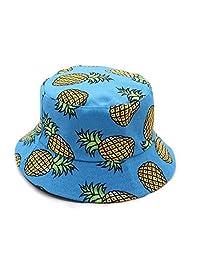 King Star Unisex Summer Fisherman Cap Fruit Print Bucket Hat for Women Men