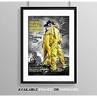 Breaking Bad Full Cast Signed Autograph Signature A4 Poster Photo Print Photograph Artwork Wall Art Picture TV Show Series Season DVD Boxset Present Birthday Xmas Christmas Memorabilia Gift Bryan Cranston