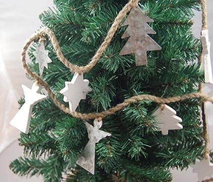 Heaven Sends Rustic Metal Wood Angel Christmas Garland