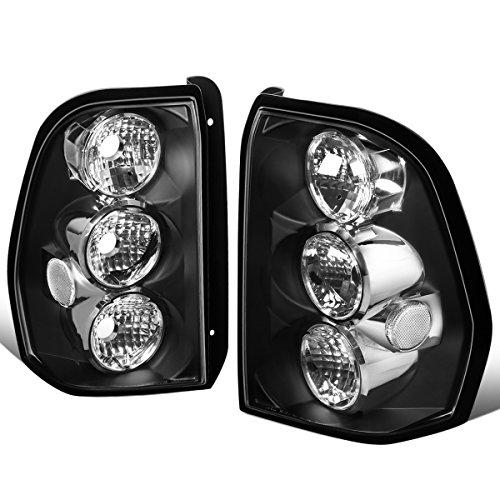 (For 2002-2009 Chevy Trailblazer Pair Black Housing Altezza Style Tail Light Brake/Parking Lamps)